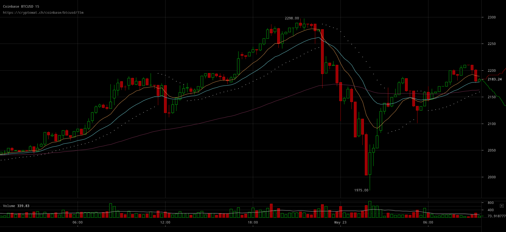 Bitcoin Price Recovering from Fall After Peak Nearing ...