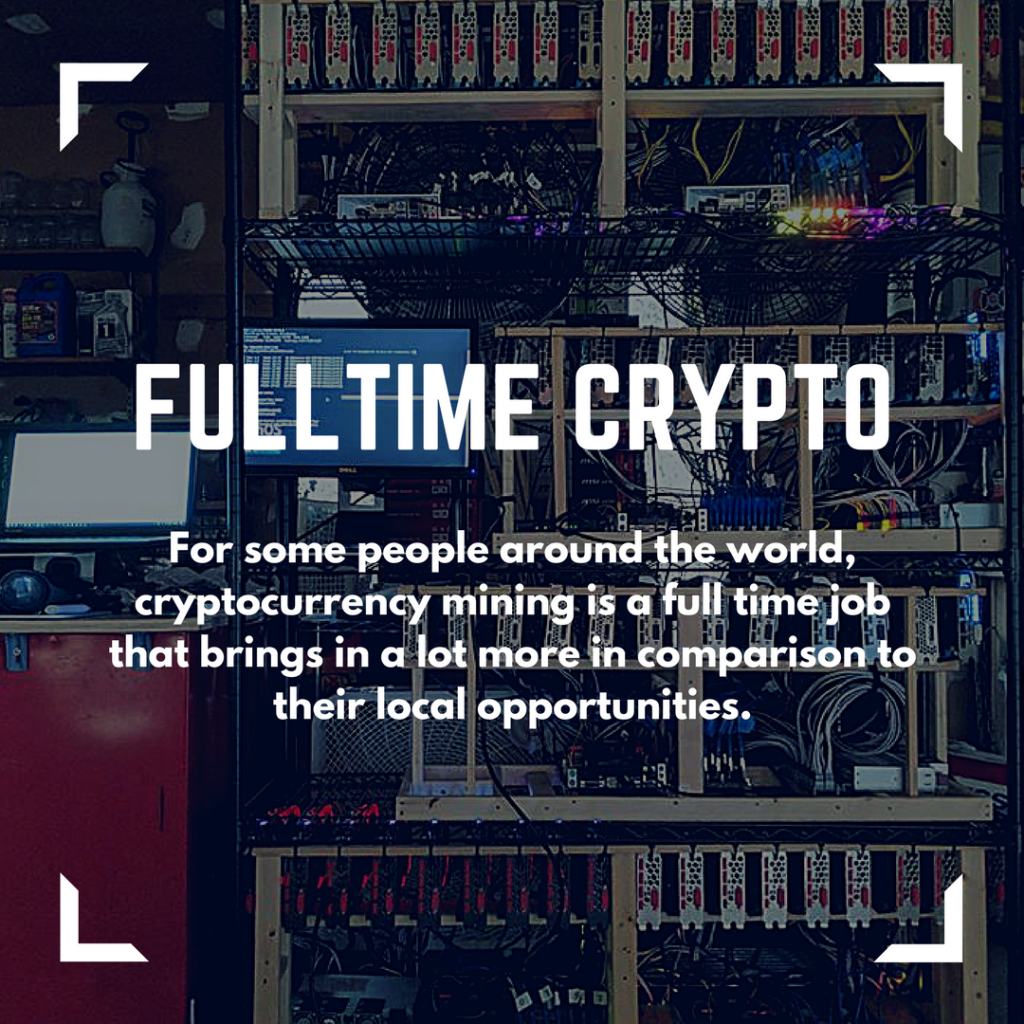 mine cryptocurrency full time job